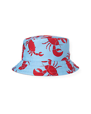 Boys Nantucket Blue Crab Reversible Bucket Hat at JanieandJack