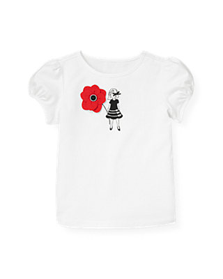 Pure White Poppy Flower Girl Top at JanieandJack