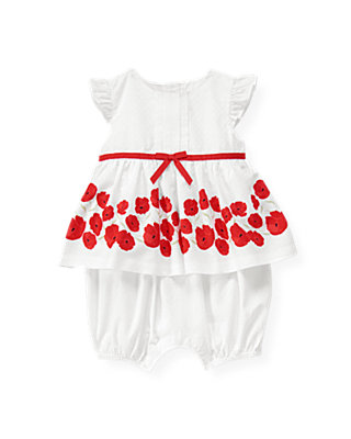 Poppy Poppy Floral Dot Bubble at JanieandJack