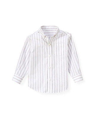 Pale Lavender Stripe Stripe Woven Dress Shirt at JanieandJack
