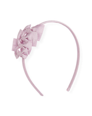 Pale Lavender Bow Silk Headband at JanieandJack