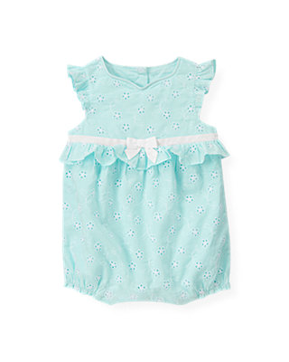 Baby Girl Pool Blue Floral Eyelet Bubble at JanieandJack
