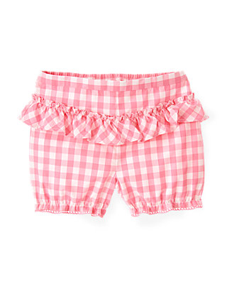 Baby Girl Paradise Pink Check Ruffle Gingham Bloomer Short at JanieandJack