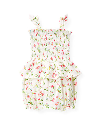 Baby Girl Paradise Pink Floral Smocked Floral Bubble at JanieandJack