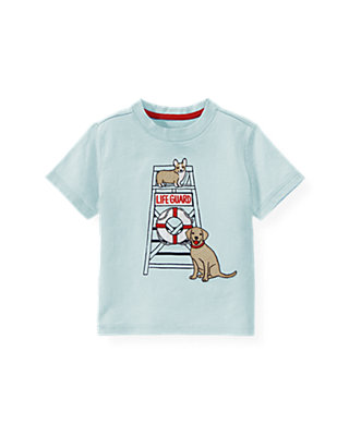 Boys Skyway Blue Lifeguard Tee at JanieandJack