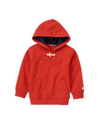 Beachfront Red Nautical Hoodie at JanieandJack