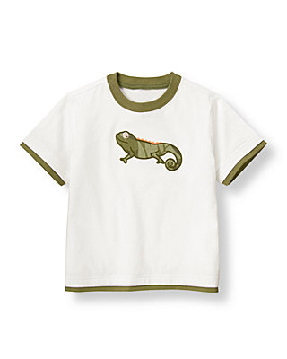 Boys Pure White Chameleon Tee at JanieandJack