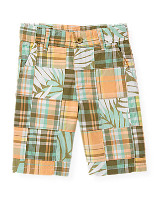 Boys Palm Patchwork Palm Patchwork Short at JanieandJack