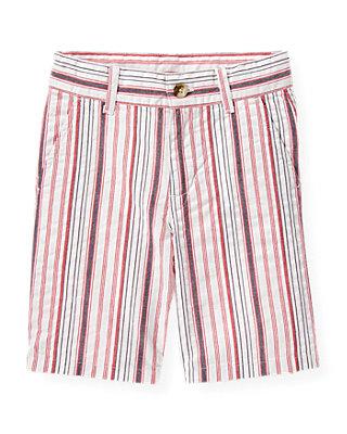 Boys American Red Stripe Stripe Seersucker Short at JanieandJack