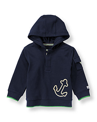Classic Navy Anchor Hoodie at JanieandJack