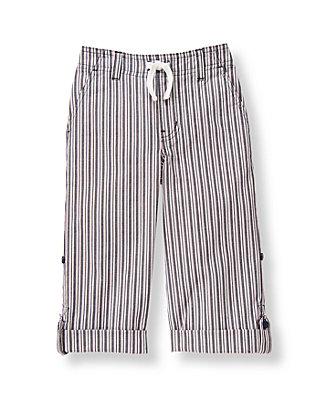 Boys Railroad Stripe Stripe Roll Cuff Pant at JanieandJack