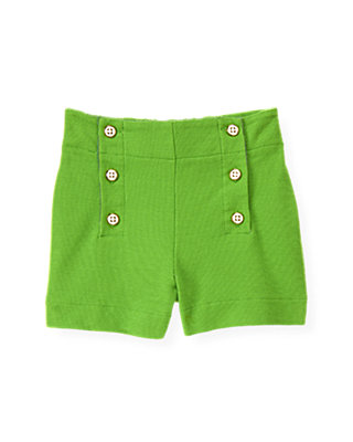 Palm Green Button Pique Short at JanieandJack