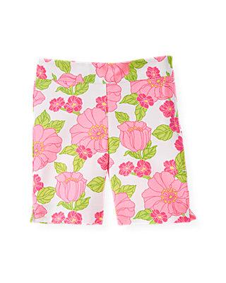 Azalea Pink Floral Floral Pique Bermuda Short at JanieandJack