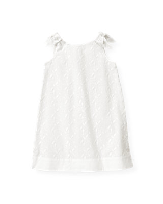 Pure White Floral Embroidered Dress at JanieandJack