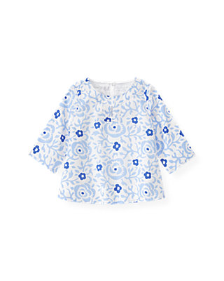 Sea Blue Floral Floral Tunic at JanieandJack