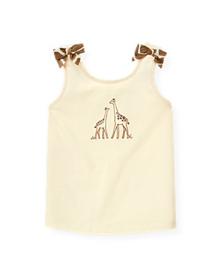 Cream Giraffe Bow Tank at JanieandJack