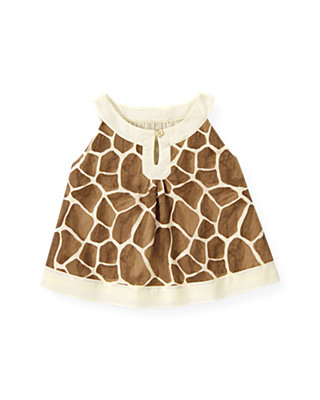 Giraffe Sunset Giraffe Print Top at JanieandJack