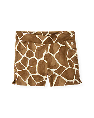 Giraffe Sunset Giraffe Print Short at JanieandJack