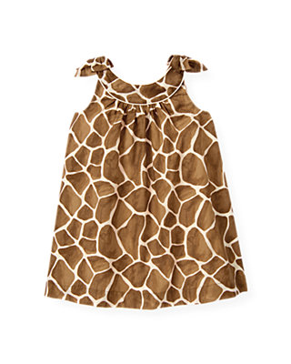 Giraffe Sunset Giraffe Print Bow Dress at JanieandJack
