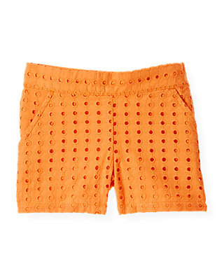 Orchid Orange Eyelet Short at JanieandJack