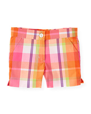 Orchid Pink Plaid Plaid Short at JanieandJack