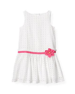 Pure White Flower Corsage Eyelet Dress at JanieandJack