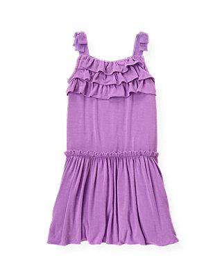 Orchid Purple Ruffle Knit Dress at JanieandJack