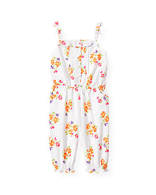 Orchid Orange Floral Floral Romper at JanieandJack
