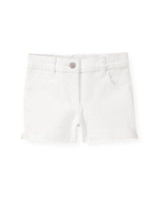 Pure White White Denim Short at JanieandJack