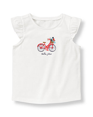 Pure White Bicycle Top at JanieandJack