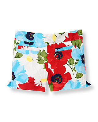 Vivid Red Floral Floral Short at JanieandJack