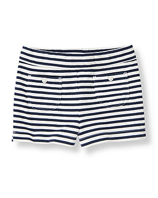 Classic Navy Stripe Stripe Knit Short at JanieandJack