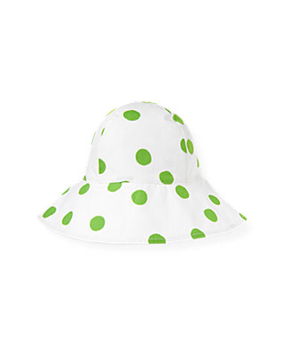 Palm Green Dot Bow Dot Sunhat at JanieandJack