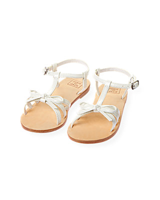 Pure White Patent Leather Strappy Sandal at JanieandJack