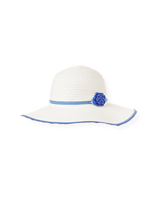Pure White Crochet Flower Straw Sunhat at JanieandJack