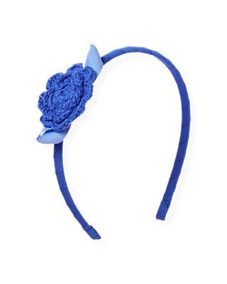 Coastal Blue Crochet Flower Headband at JanieandJack