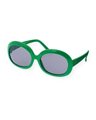 Emerald Green Round Sunglasses at JanieandJack
