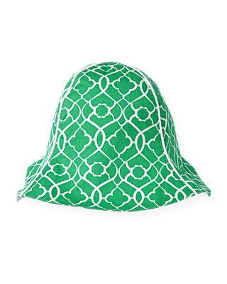 Emerald Green Tile Print Sunhat at JanieandJack