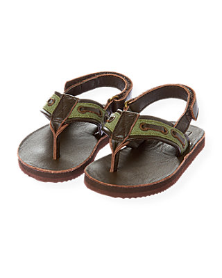 Dark Brown Grommet Flip Flop at JanieandJack