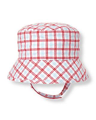 Baby Boy Tricycle Red Plaid Plaid Bucket Hat at JanieandJack
