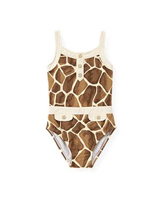 Giraffe Sunset Giraffe Print Swimsuit at JanieandJack