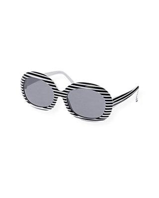 Pure White Stripe Stripe Sunglasses at JanieandJack