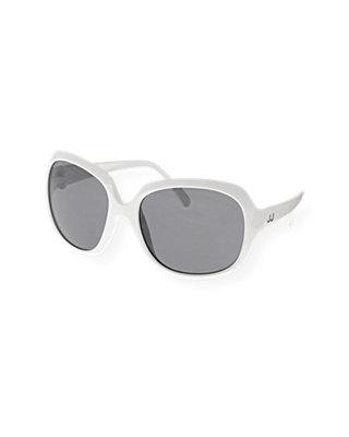 Pure White Oversized Sunglasses at JanieandJack