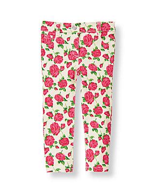 Fuchsia Rose Floral Rose Floral Print Jean at JanieandJack
