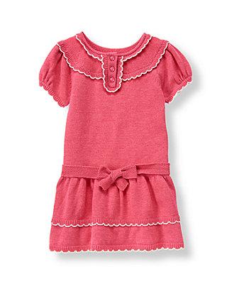 Fuchsia Rose Heathered Sweater Dress at JanieandJack