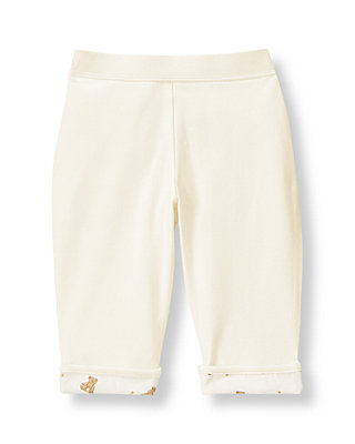 Jet Ivory Honey Bear Knit Pant at JanieandJack