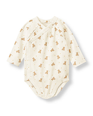 Honey Bear Honey Bear Print Bodysuit at JanieandJack