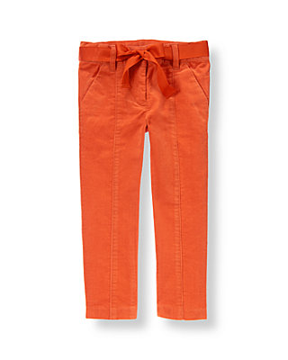 Candied Orange Belted Corduroy Pant at JanieandJack