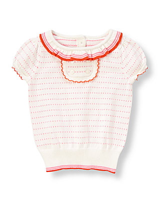Mini Confetti Dot Ruffle Sweater Top at JanieandJack