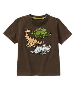 Boys Dinosaur Brown Dinosaurs Tee at JanieandJack